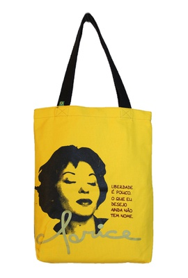 Bolsa Clarice P Amarela - Tertúlia Produtos Literários