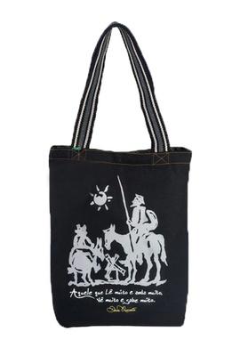 Bolsa Dom Quixote Preta - Tertúlia Produtos Literários