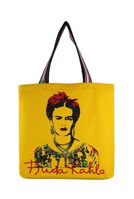 Bolsa Frida Kahlo Olhos Amarela - Tertúlia Produtos Literários