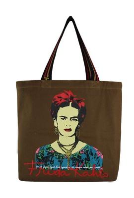 Bolsa Frida Kahlo Píes Marrom - Tertúlia Produtos Literários