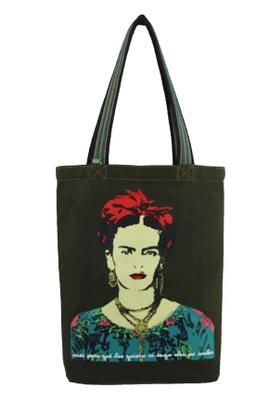 Bolsa Frida Kahlo Musgo - Tertúlia Produtos Literários