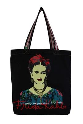 Bolsa Frida Kahlo Píes G Preta - Tertúlia Produtos Literários