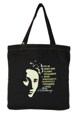 Bolsa Rosa Luxemburgo G Preta - Tertúlia Produtos Literários