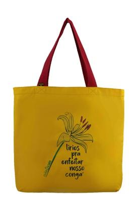 Bolsa Oxum Lírios Amarela - Tertúlia Produtos Literários