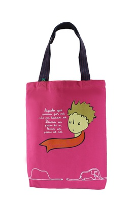 Bolsa Pequeno Príncipe Rosa - Tertúlia Produtos Literários