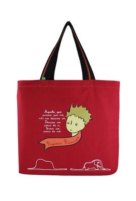 Bolsa Pequeno Príncipe Vermelha - Tertúlia Produtos Literários