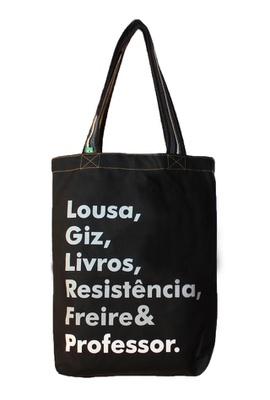 Bolsa Freire Professor Preta - Tertúlia Produtos Literários