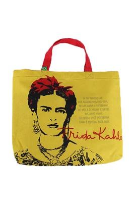 Book Bag Frida Kahlo Olhos Amarela - Tertúlia Produtos Literários