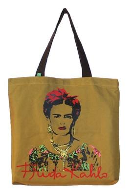 Bolsa Frida Kahlo Olhos Cru - Tertúlia Produtos Literários