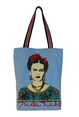 Bolsa Frida Kahlo Azul Claro - Tertúlia Produtos Literários
