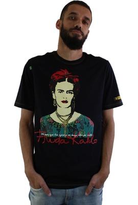 Camiseta Frida Kahlo Alas Preta - Tertúlia Produtos Literários