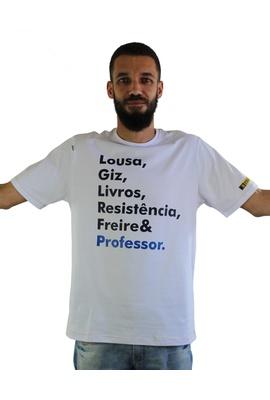 Camiseta Freire Professor Branca - Tertúlia Produtos Literários