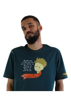 Camiseta Pequeno Príncipe Verde Musgo - Tertúlia Produtos Literários