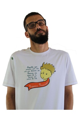 Camiseta Pequeno Príncipe Branca - Tertúlia Produtos Literários