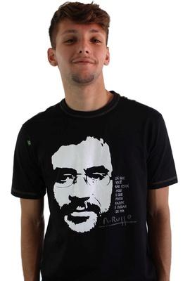 Camiseta Renato Russo - Vento no Litoral Preta - Tertúlia Produtos Literários