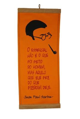 Flâmula Sartre Amarela - Tertúlia Produtos Literários