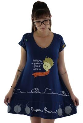 Vestido Pequeno Príncipe Azul Marinho - Tertúlia Produtos Literários
