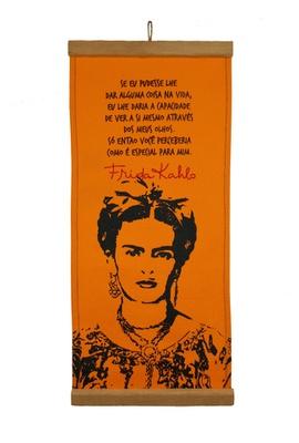 Flâmula Frida Kahlo Olhos Amarela - Tertúlia Produtos Literários