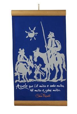 Flâmula Dom Quixote Azul - Tertúlia Produtos Literários