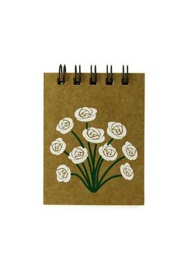 Bloquinho Floral Branco - Tertúlia Produtos Literários