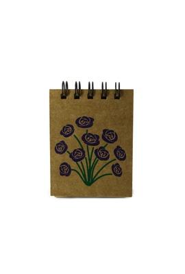 Bloquinho Floral Roxo - Tertúlia Produtos Literários