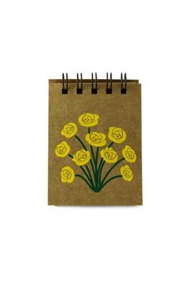 Bloquinho Floral Amarelo - Tertúlia Produtos Literários