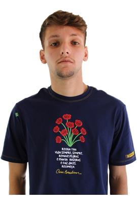 Camiseta Cora Coralina Recria Marinho - Tertúlia Produtos Literários