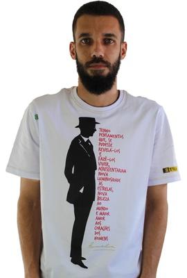 Camiseta Fernando Pessoa Branca - Tertúlia Produtos Literários