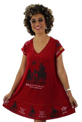 Vestido Dom Quixote Vermelho - Tertúlia Produtos Literários