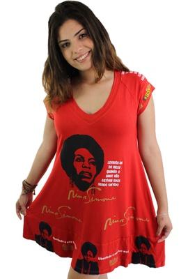 Vestido Nina Simone Vermelho - Tertúlia Produtos Literários