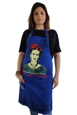 Avental Frida Kahlo Azul - Tertúlia Produtos Literários