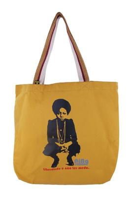 Bolsa Nina Simone Liberdade Mostarda - Tertúlia Produtos Literários