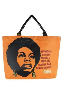 Book Bag Nina Simone Laranja - Tertúlia Produtos Literários