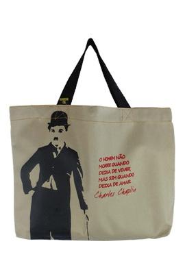 Book Bag Charles Chaplin Cru - Tertúlia Produtos Literários