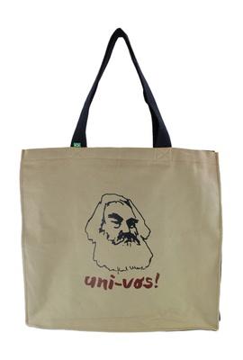 Bolsa Com Zíper Karl Marx Cru - Tertúlia Produtos Literários
