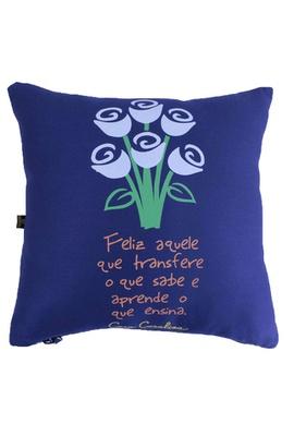 Capa de Almofada Cora Coralina Professor Azul - Tertúlia Produtos Literários