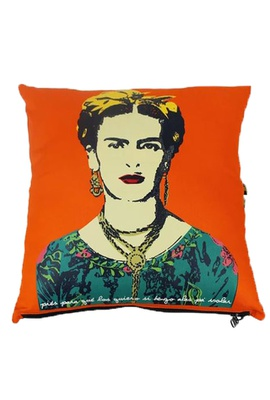 Capa de Almofada Frida Kahlo Alas Laranja - Tertúlia Produtos Literários