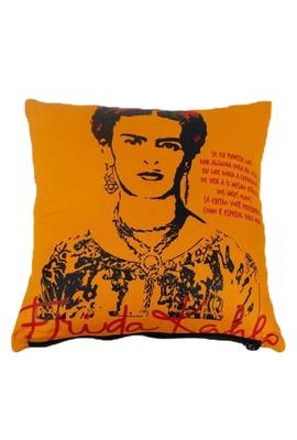 Capa de Almofada Frida Kahlo Olhos Amarela - Tertúlia Produtos Literários