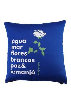 Capa de Almofada Iemanjá Azul - Tertúlia Produtos Literários
