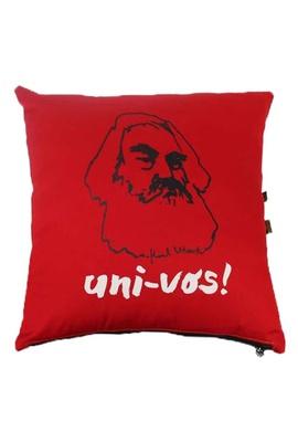 Capa de Almofada Karl Marx Vermelha - Tertúlia Produtos Literários
