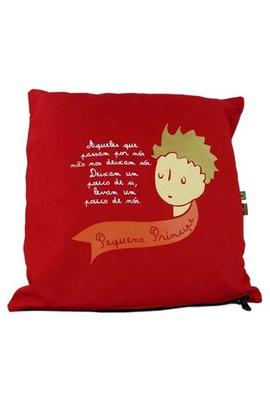 Capa de Almofada Pequeno Príncipe Vermelha - Tertúlia Produtos Literários