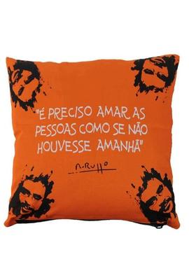Capa de Almofada Renato Russo Laranja - Tertúlia Produtos Literários