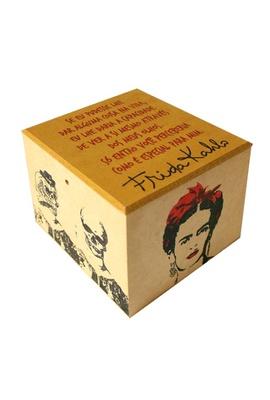 Caixa Porta Chá Frida Kahlo Olhos - Tertúlia Produtos Literários