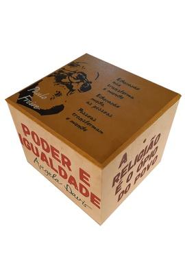 Caixa Porta Chá Resistência Freire - Tertúlia Produtos Literários