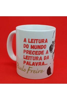 Caneca Paulo Freire Leitura - Tertúlia Produtos Literários