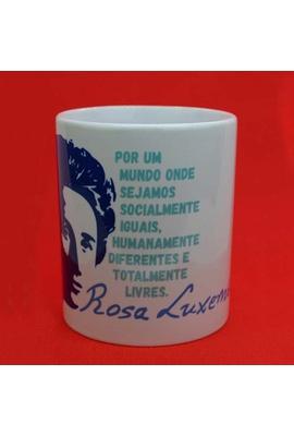 Caneca Rosa Luxemburgo - Tertúlia Produtos Literários