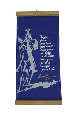Flâmula Dom Quixote Coragem Azul - Tertúlia Produtos Literários