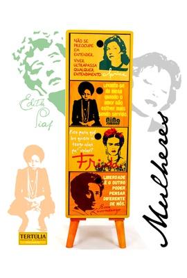 Gaveteiro Mulheres - 4 Gavetas - Tertúlia Produtos Literários