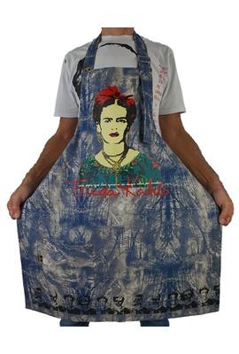 Avental Frida Kahlo Especial Azul - Tertúlia Produtos Literários