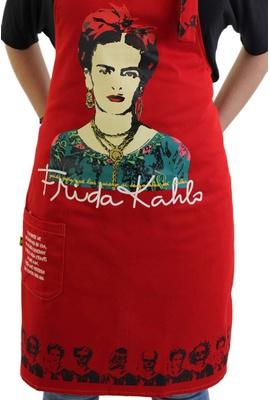 Avental Frida Kahlo Vermelho - Tertúlia Produtos Literários
